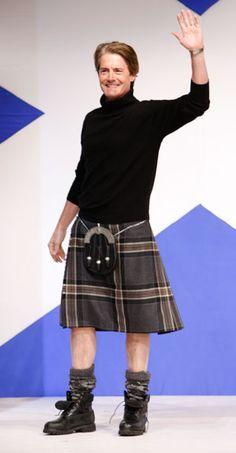 Kyle MacLachlan at Dressed to Kilt. I wonder if this is his clan's tartan?