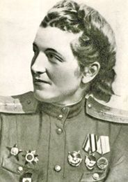 "Maguba Syrtlanova (Tatar: Мәгубә Хөсәен кызы Сыртланова) was a first lieutenant in the 46th Taman Guards Night Bomber Aviation Regiment, nicknamed the ""night witches"" and was awarded the title of Hero of the Soviet Union for her work."