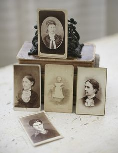 five ladies cabinet cards