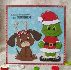 kadoodle bug projects | used a cut file from Too Cute By Jessica called Grumpy Christmas ...