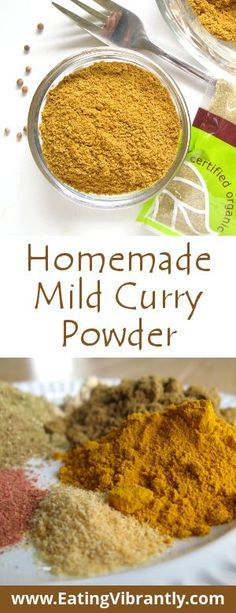 Homemade Mild Curry Powder recipe - Quick, easy, natural, delicious and gentle on your tastebuds @ Eating Vibrantly Homemade Spice Blends, Homemade Spices, Homemade Seasonings, Spice Mixes, Mild Curry Powder Recipe, Homemade Curry Powder, Mild Curry Recipe, Masala Powder Recipe, Curry Seasoning