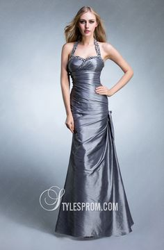 Beaded Halter Neckline Elegant Mermaid Gown - : 2012 - 2013 UK Cheap Prom Dresses, Formal Gowns, Evening Dresses At Dressespro Grey Party Dresses, Grey Prom Dress, Prom Dress 2013, Beautiful Prom Dresses, Cheap Prom Dresses, Dresses 2013, Prom 2014, Prom Gowns, Ball Gowns