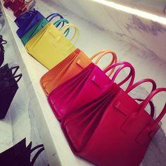 A rainbow of Saint Laurent bags
