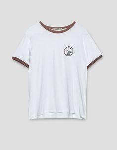 Camiseta parche - Camisetas - Ropa - Mujer - PULL&BEAR España