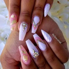 Beautiful nails by @my_spa_lounge 💕💕- ~ #myspalounge #houstonnails #ombrenails #blingnails #uglyducklingnails #ducksquad #artisticcharmbs…