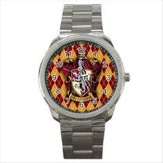 Harry Potter Gryffindor Hogwarts School Sport Metal Wrist Watch Gift NEW