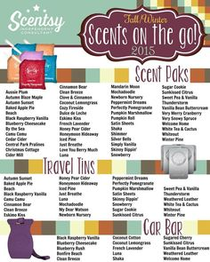 Fall & Winter Scents on the Go List 2015
