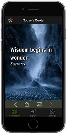 This is a link to many quotes of Leonard Nimoy.  Apparently this Socrates quote is the only picture on the page to pin