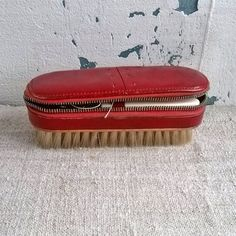 Vintage travel manicure set and clothes brush Retro by MyWealth