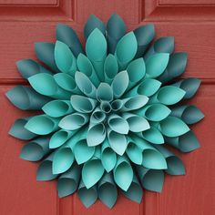 Tutorial: Paper Dahlia Flower Wreath