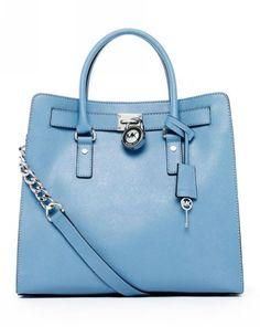 MICHAEL Michael Kors Hamilton Large Tote Surf Blue Saffiano Leather - Michael-Kors-Handbags.ca   Michael Kors Handbags Canada Sale, Free Shipping!