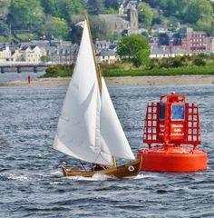 Oselvar. Sailboats wooden boats