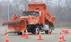 Local reporters were offered snowplow driving experience through an obstacle course set up at the Alliant Energy Center parking lot on Thursday.