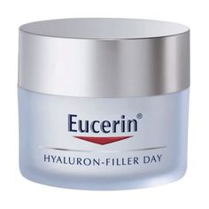 Eucerin Hyaluron-Filler Day Cream 50ml An advanced Hyaluronic acid formula anti-wrinkle day cream for dry skin designed to plump even the deepest wrinkles. SPF 15 and UVA protection to prevent premature ageing and the deepening of wrinkles http://www.MightGet.com/april-2017-2/eucerin-hyaluron-filler-day-cream-50ml.asp