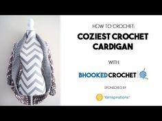 How To Crochet the Coziest Crochet Cardigan - YouTube