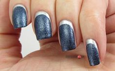 Blue Ruffian Nails for Blue Friday #13