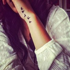 Small Flying Dove Tattoos for Girls