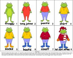 Froggy gets dressed coloring page readinglanguage arts the paperbag teachers froggy gets dressed activities pronofoot35fo Images