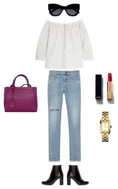 """""""Untitled #611"""" by vero199638 on Polyvore featuring Yves Saint Laurent, Madewell, Fendi, Karen Walker, Chanel and Tory Burch"""