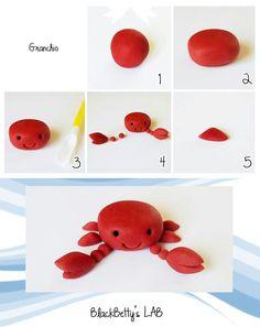 Fondant crab how to