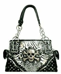 Zebra skull purse