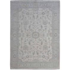 Feature this stone wash hand knotted 4x6 ziegler mahal 100-percent wool oriental rug in your home for a unique accent that brings new style to any room.
