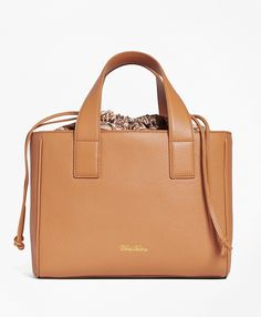4d0c8ff892 Leather Sharon Shopper Bag - Brooks Brothers