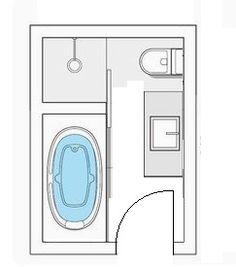 Small Bathroom Floor Plans, Small Bathroom Layout, Bathroom Design Layout, Bathroom Plans, Home Room Design, Bathroom Interior Design, Wet Room Bathroom, Tiny House Bathroom, Bathrooms