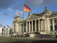 Building of the German Parliament  - Reichstagsgebäude, Berlin ~ Germany
