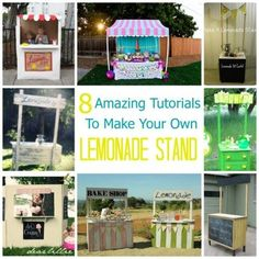 Make a cute lemonade stand - bake shop - ice cream stand - for your kiddos this summer! DIYs collected by Craft Gossip.: