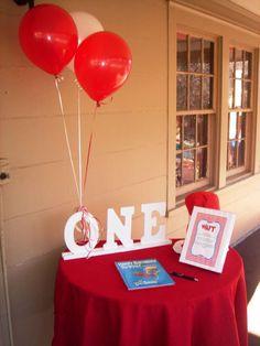 Birthday,Dr Seuss, Candy Buffet, First Birthday, Dessert Buffet, Books   CatchMyParty.com