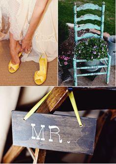 yellow wedding shoes :: so fun