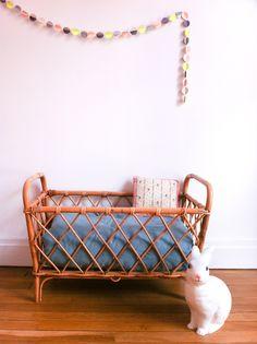 Lit Corbeille Vintage Cadre De Lit Personne En Rotin Inspiration - Cadre de lit rotin