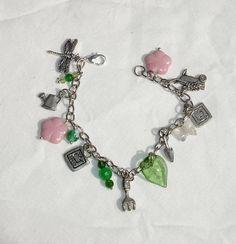 Spring Gardening Charm Bracelet - Handmade Fashion Jewelry