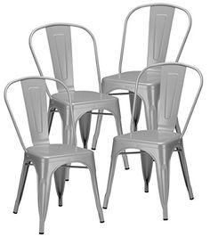 Poly and Bark Tolix Style Bistro A Dining Side Chair Set of 4 Grey *** See this great product. We are a participant in the Amazon Services LLC Associates Program, an affiliate advertising program designed to provide a means for us to earn fees by linking to Amazon.com and affiliated sites.