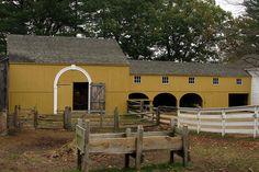 Barn Yard at Old Sturbridge Village American Barn, Early American, Country Life, Country Charm, Sturbridge Village, Historic New England, Colonial America, Farm Barn, Ranch Life