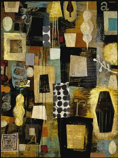 mustard_seed_48x36_acrylic_collage_2004 |   Claire COTTS