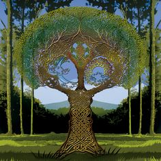Celtic Tree Astrology ~ The Celtic Year is split into 13 Lunar months which mirrors the cycles of the moon, each are linked to a tree that is sacred to the Druids. Tree Of Life Art, Celtic Tree Of Life, Tree Art, Celtic Heart, Celtic Knot, Ouvrages D'art, Celtic Symbols, Magritte, Celtic Designs