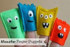 Monster Finger Puppets Tutorial
