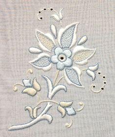 whitework with colour. Trish Burr.