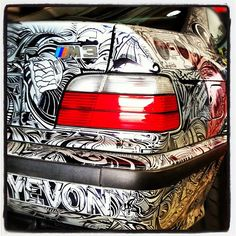 Serge's E36 M3 Beast with Custom Sharpie Artwork on BMW M3