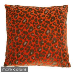 Michael Amini Wildlife Decorative  22-inch Accent Pillow | Overstock.com Shopping - The Best Deals on Throw Pillows