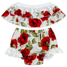 Cute Floral Baby Girl Clothes Set 2017 Summer Ruffles Skirted Off Shoulder Tops +Lace Bloomers Bottom 2PCS Outfits Children Set