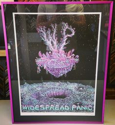 Limited Edition @wptouring print framed with an acid-free color-core mat and metal frame! #art #pictureframing #customframing #denver #colorado #widespreadpanic