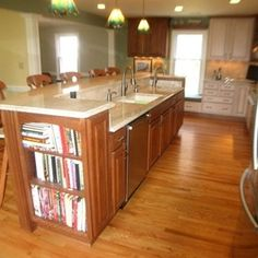 Kitchen Remodel with Cherry/Maple Cabinets and Ambrosia White Granite by Hatchett Design/Remodel