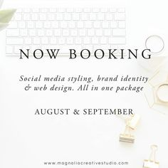 Excited to be booking for August & September 2016! Maybe you wonder why wait until August? The process starts right when you decide to book! Is not just to make a logo and call it a day. The  goal is to work through a series of steps to pin point the needs of your business and gather all the details required before we begin the actual design process. Again this is a process! A process to define your needs and the needs of your business in order to thrive!  I also have one spot open to start…