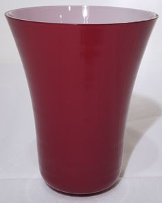 vaso di murano rosso