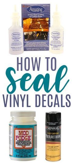How To Seal Vinyl Decals - Makers Gonna Learn