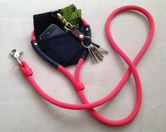 Best Leash for Runners!! Stow your phone, keys & some cash in the velcro front pocket and poop bags in the bag.  http://bekindliving.com/collections/dog-collars-harnesses-leashes/products/fozzydog-dog-leash-the-original