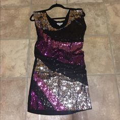 Multi color sequence mini dress Beautiful sequence dress, can be worn alone or with leggins Dresses Mini